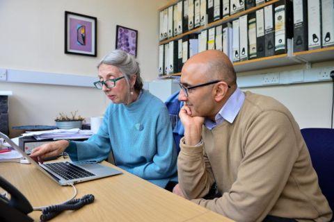 Prof Irene Roberts and Prof Paresh Vyas